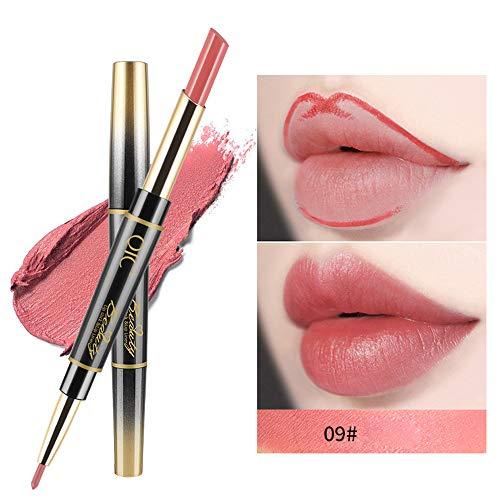 gloss Doppelseitiger Lip Liner-Stift- wasserdicht Matte Liquid Lipstick Schönheit Lippe Gloss, Sexy Long Lasting Moisturizing Lippenstift Lippenstift, Lipgloss,Liquid Lipstick ()