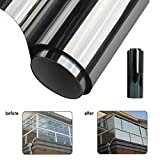 50x200cm 1M*50cm Window Film One Way Mirror Silver Insulation Stickers Solar Reflective Home Decoration Supplies
