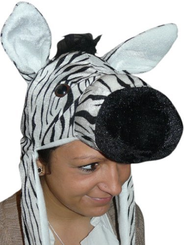 Seruna Zebra- Kostüm-e F93 One Size Mütze-n Tier-e -