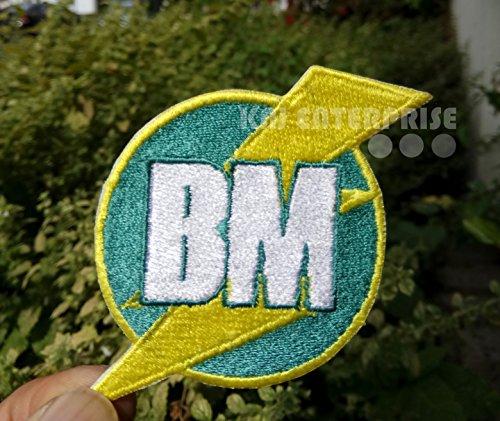 You Me And Dupree Film Best Man BM Lightning Logo Hohe Qualität   Eisen auf Patch   Sew auf bestickt Patch   Eisen Buttons für Kleidung   Größe: 7cm x 6,5cm