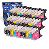 30x Cartucce d'inchiostro Brother LC-1220 LC-1220XL Sostituzione per Brother Brother MFC-J280W MFC-J425W MFC-J430W MFC-J435W MFC-J5910DW MFC-J625DW