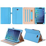 ISIN Tablet Fall Serie Premium PU-Leder Schutzhülle für Samsung Galaxy Tab A 10.1 Zoll SM-T580 T585 FHD WIFI 4G LTE Android Tablet PC (Mehrere View Engel, Blau)