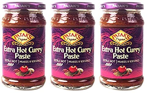(3 PACK) - Pataks - Extra Hot Curry Paste | 283g | 3 PACK BUNDLE