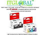 #2: Canon Combo Ink Cartridge Black & Color ( PG 47 & CL 57 ) [Set of 2 Cartridge] -Special ITGLOBAL Combo With Scratch & Win Offer