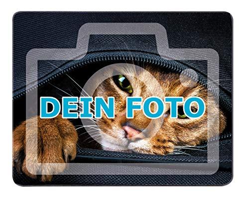 Mousepad mit eigenem Foto gestalten (per Thermo-Sublimationsdruck vollflächig Bedruckt, aus Moosgummi, 19 x 23 cm, ideal als persönliches Fotogeschenk zum Geburtstag) (Moosgummi) -