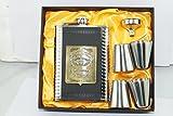 KARP™ Jack Daniel's 8oz Hip Flask / 4 Shot Glass / 1 Funnel Set - Style 6