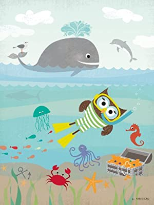 Happy Spaces Kids Wall Art Canvas Print: Snorkel by Elisa Sheehan (30 x 40 x 2 cm)