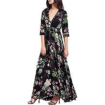 Vestido de Verano de Mujer, Dragon868 2018 Bohemia Floral Beach Party Vestido Largo Casual para