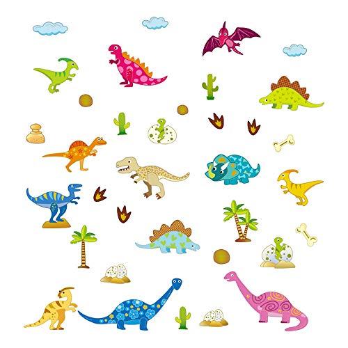 ufengke Pegatinas de Pared Dibujos Animados Dinosaurio Vinilos Adhesivos Pared Mundo Jurasico...