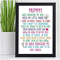 Mothers Day Gifts NANNY NANA NAN GRANNY GRAN Keepsake Poem Birthday Christmas - PERSONALISED with ANY NAME and ANY RECIPIENT - Black or White Framed A5, A4, A3 Prints or 18mm Wooden Blocks