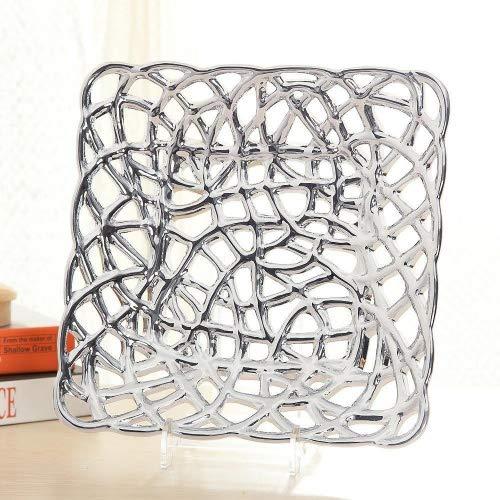 Daeou plaque de mode creuse de fruits en céramique créatif bureau à la maison moderne et minimaliste cadeaux décoratifs