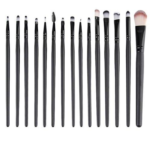 Ulable Fard à paupières Fond de teint sourcils lèvres Brosse Maquillage outils 15 pcs/Définit Kits de Cosmétique