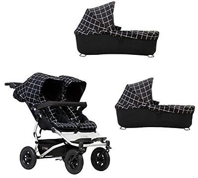 Mountain buggy Duet Buggy V3como doble asiento de Buggy + 2Baby rígida–Grid
