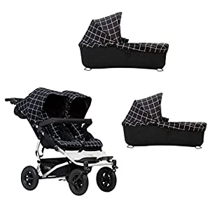 Mountain Buggy Duet Pushchair V3 Double Seat Buggy + 2 Infant - Grid   3