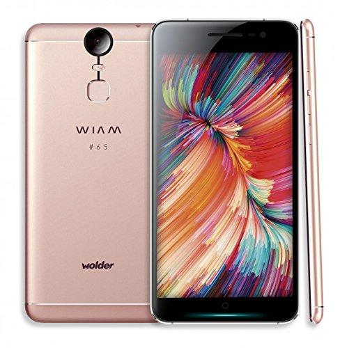 """Wolder WIAM #65 - Smartphone Libre (5,5"""" IPS FHD, OCTA CORE 2.0, 32 GB Flash, 3 GB RAM, 13/21 Mpx, Carga Rápida, Sensor de Huellas, Android 6.0 Marshmallow) Color Laser Pink"""