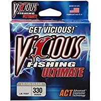 Preisvergleich für Vicious Fishing Ultimate Fishing Line 330 Yard (lo-vis CLEAR) by Vicious Fishing