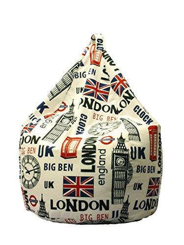 Avalli poltrona a sacco pouf in cotone design londra city