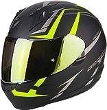 Scorpion casco moto exo-390 hawk opaco nero-neon giallo xxl