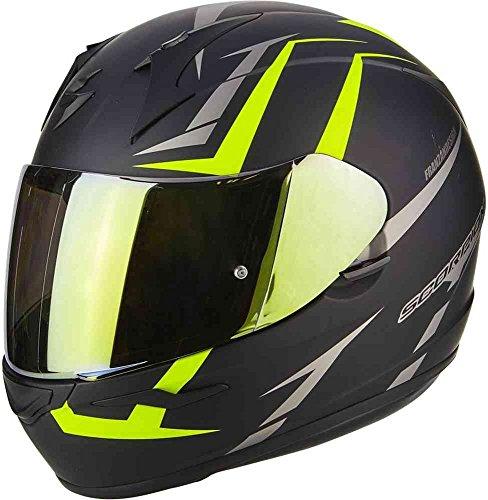 Scorpion casco moto exo-390 hawk opaco nero-neon giallo xx