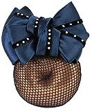 Haarschleife blau mit Strass