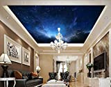Wxlsl Benutzerdefinierte 3D Tapete Wandbilder Decke, Der Nachthimmel Für Das Wohnzimmer Schlafzimmer Deckenwand-200cmx140cm