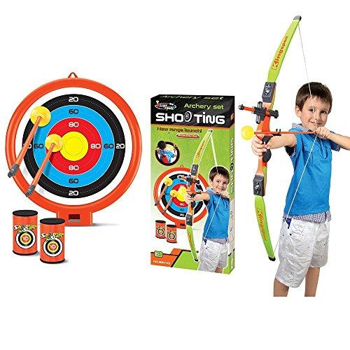 Kinder Bogenschießen Pfeil und Bogen Set Spiel mit Zielscheibe Arrows Dosen Kinder Jungen Mädchen Geschenk Toys Innen-Spaß Spielset