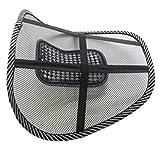 Hangqiao Silla asiento de coche Masaje cojin amortiguador lumbar Cushion Pad , Black+ White