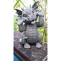 Dragón! Muecas! Niño del dragón! La decoración! Jardín! Figura!