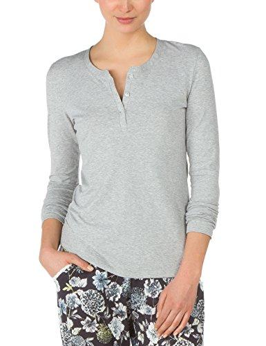 CALIDA Top Langarm/ 3/4 Arm Favourites Trend 1, Haut de Pyjama Femme Gris - Gris pierre mélangé (096)