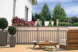 matrasa Balkon Sichtschutz - Sichtschutzplane für Balkon Geländer anthrazit