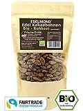Edelmond Bio Kakaobohnen Rohkost, frisch direkt vom Farmer. Sonnengetrocknet und Fair Trade. Ohne Spritzmittel (250 g)