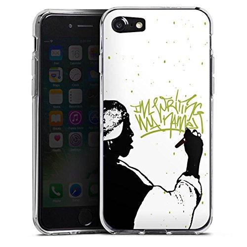 Apple iPhone X Silikon Hülle Case Schutzhülle Equaleyez Graffiti Hip Hop Silikon Case transparent