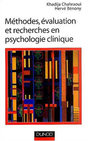 Mthodes, valuation et recherche en psychologie clinique