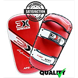 PROFESSIONAL CHOICE 3X MMA Strike Shield Training Thai Pad Kick Boxing Punching Mitts, Curved (Sold AS Single Item) (Red, Curved)
