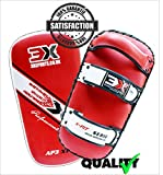 Professional Choice 3X Berufswahl MMA Streik Schild Training Thai Pad Kick Boxing Fausthandschuhe, gebogen (VAls Einzelstück verkauft) (Red, Curved)