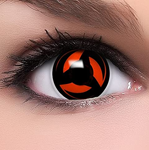 FUNZERA®[Shanringan] Lentilles de Contact de Couleur Rouge-Noir