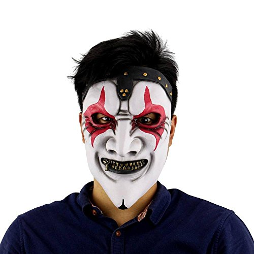 KHFFJ 1 Stück Scary Clown Maske Masque Zahltag Party Halloween Maske Für Party Mascara Carnaval Silikon Weibliche Masken Männer Maskerade, 6