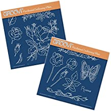 Groovi Plates A5 Square - Jayne's Roses (Set of 2)