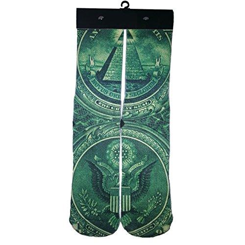 Bedruckte Herren Kleid Socken in Verschiedenen Designs Large Money ()