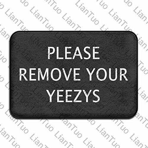 Preisvergleich Produktbild Doormat shirt Entfernen Sie bitte Ihre yeezys Vintage 39,9x 59,9cm saugfähig rutschfeste Boden Teppich Coral Teppich