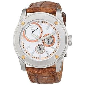 Guess Reloj Análogo clásico para Hombre de Cuarzo con Correa en Acero Inoxidable 12547G2