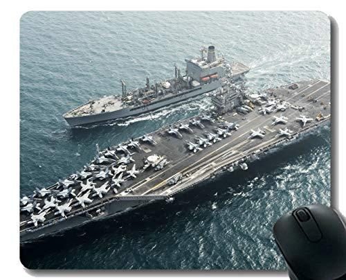 Mauspad mit genähtem Rand, Flugzeugträger Navy USS Harry S. Truman rutschfestes ()