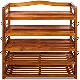 Wooden shoe storage rack tropical acacia storing furnitre unit shoe organiser