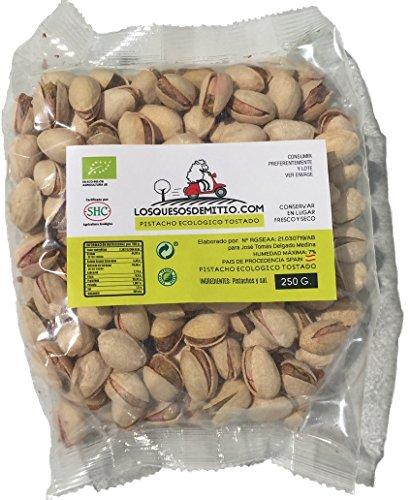 Pistazien BIO von Losquesosdemitio (geröstet, hochwertig, drei Beutel, Herkunft aus Spanien, 750 - Pistazien-cashew