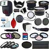 PLR Optics 52 mm Komplettes Profi-Premium-Set für das Wichtigste - darin enthalten: TTL-Blitz + 0.42x Fischaugen-Objektiv + 0.43x Weitwinkel-Objektiv + 2.2x Tele-Objektiv + Filtersatz (UV, CPL, ND9, FLD) + Makro-Nahaufnahmen-Set+ Spezialeffekt-Set + Zubehörset für Panasonic Lumix DMC-G3, DMC-GF3, DMC-G1, DMC-GH1, DMC-GH2, DMC-GH3, DMC-GH4, DMC-L10, DMC-GF1, DMC-GF2, DMC-G10, DMC-G2, DMC-GF3, DMC-G3, DMC-GF5, DMC-G5, DMC-GF6, DMC-G6, DMC-GX7, DMC-GM1 Digital SLR Cameras Digital SLR Cameras