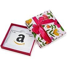 Amazon.de Geschenkgutschein in Geschenkbox (Blumen) - mit kostenloser Lieferung am nächsten Tag