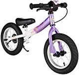 BIKESTAR® Premium Kids Safety Balance Bike for fashion-conscious princesses aged from 3 years ★ 12s Sport Edition ★ Candy Purple & Diamond White