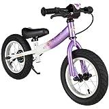 BIKESTAR® Premium 30.5cm (12 pulgadas) Bicicleta sin pedales para las princesas mas pequeñas a partir de los 3 años ★ Edición Sport ★ Lila & Blanco