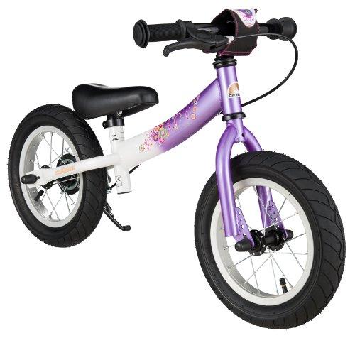 BIKESTAR Laufrad mit Seitenständer und Bremse für Kinder ab 3 Jahren, 30,5 cm, Sport Edition, Lila & Weiß