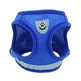 Dog Retro Brustgurt Kleine Hunde Teddy Produkte In 4 Größen Erhältlich Für 10 Kg Haustiere (blau)